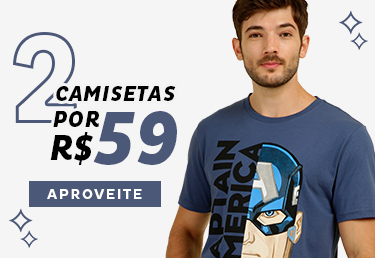 Combo 2 Camisetas Masculinas