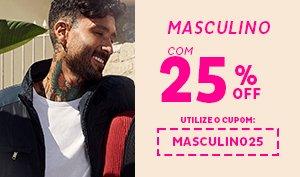 Moda Masculina com 25% de Descontos